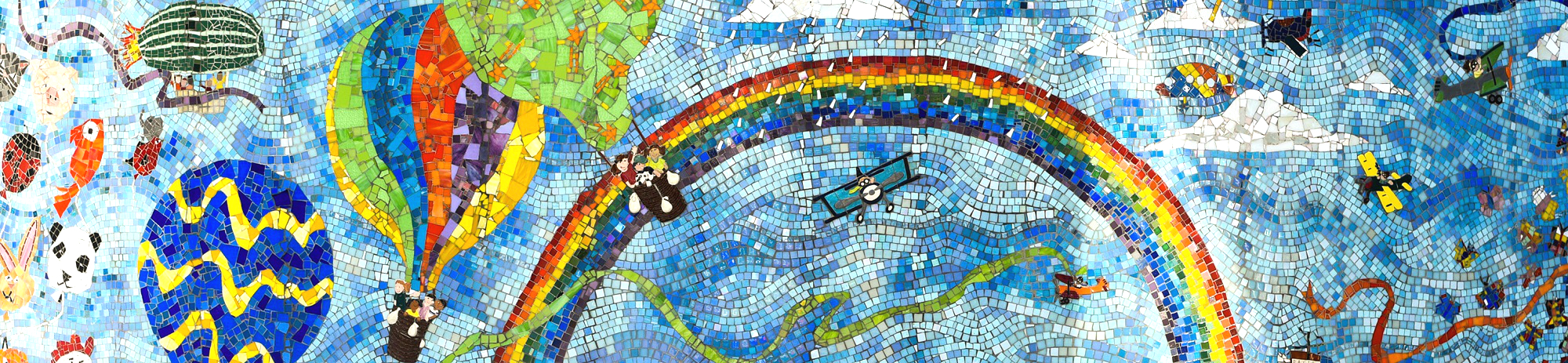 mosaic of children's artwork